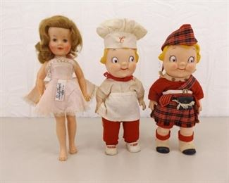 Vintage Shirley Temple and Campbell's Kids Dolls