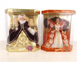 NEW 1996 and 1997 Holiday Barbies