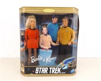 New in Box Special Edition Star Trek Barbie and Ken