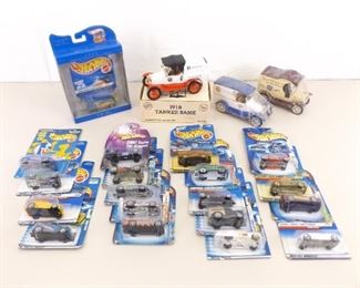 Lot of Misc New Hot Wheels and Ertl Banks