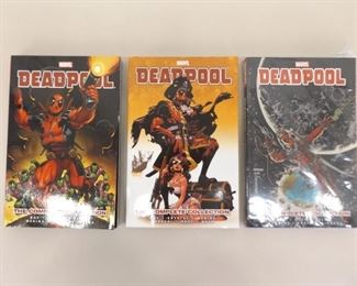 3 NEW Marvel Comics Deadpool: The Complete Collection Vol. 1, 2, and 3