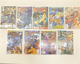 9 Bagged and Boarded Marvel Comics Fantastic Four Comic Books