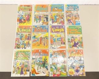 12 Bagged and Boarded Archie Type Comic Books