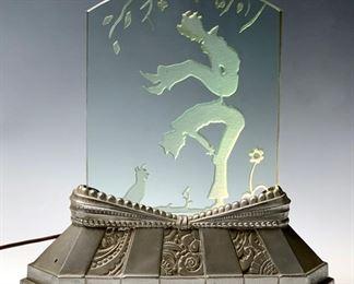 """Art Deco """"Children at Play"""" Luminaire C. 1930's"""