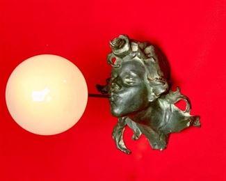 """Art Nouveau Rare """"Blowing Bubble"""" Lamp C. 1900"""