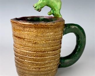 """David Gilhooly (Am 1943-2013) """"Cup of Sex"""""""