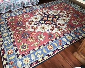 Flower Pattern Area Rug
