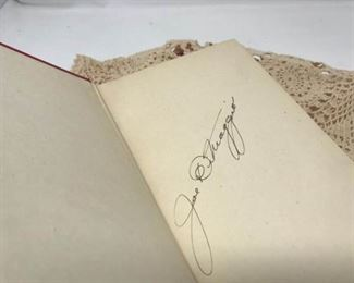 Joe DiMaggio Autographed Lucky to be a Yankee Book