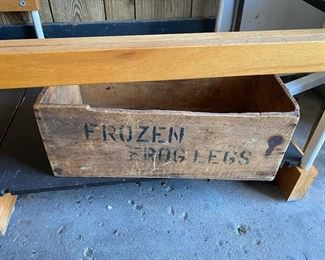frozen frog legs crate