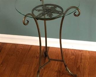 Decorative Glass Top Accent Table