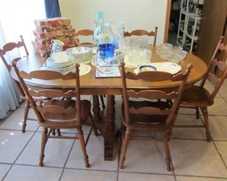 Tell City Table & Chairs ~ Misc Glassware, more