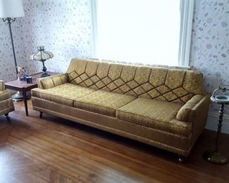 Rare Matching Vintage Kroehler Mid Century Modern Sofa and Chair