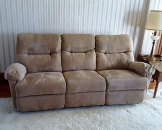 Chaise style reclining sofa wall saver by Best