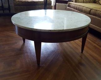 Vintage W & Z Italian round marble