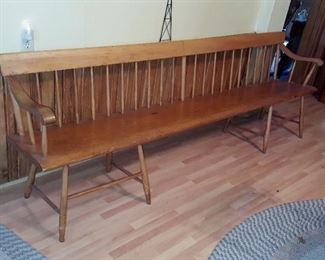8' Long Spindle back deacon bench