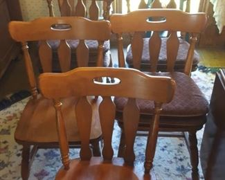 set 6 of St. Johns Table Company maple dining room chairs