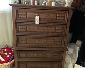 """#3 - $100 - 5 Drawer Bassett Dresser - 40""""W x 19""""D x 52""""H"""