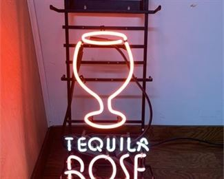 Lot 010 Tequila Rose neon light wall or counter top display