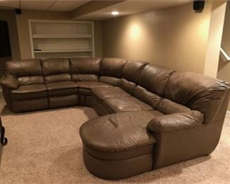 Lot 1 Leather Sectional