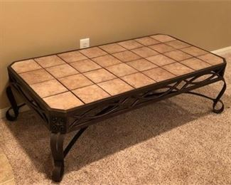 Lot 4 Tile Top Side Table