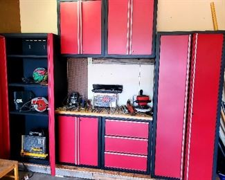 great condition garage cabinets