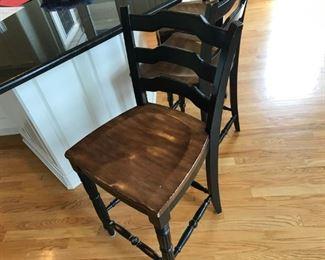 Set of 3 Hooker bar stools
