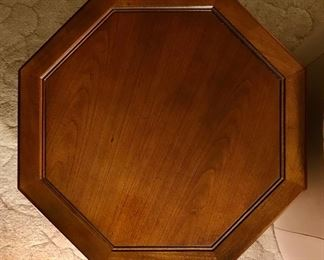 Top view of octagonal side table  detail pic