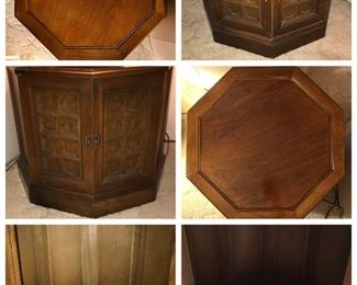 Mid Century Mediterranean Style  Octagon Pair of end tables