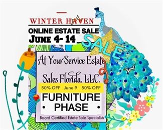 50% OFF  @ 9:30AM, 6/3 Furniture Phase JUNE 4- 14