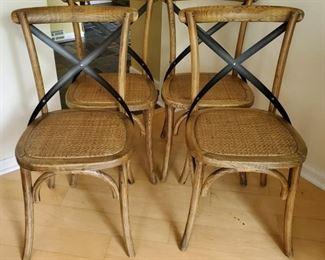 Arhaus Oak  Metal Side Chairs
