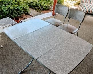 Mid-Century Table and 2 Chairs