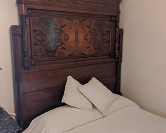 Eastlake bed.  Headboard and foot board with rails.  This is an amazing piece.  Full size.  Mattress not included.