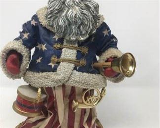 Clothtique Old World Patriotic Santa