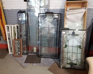 Assorted Low E double panel stain & leaded glass inserts Offering 30% off all remaining stock. original price starts $95 to $575 before discount.