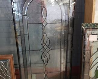 "Assorted Low E double panel stain & leaded glass inserts Offering 30% off all remaining stock. Original price starts $95 to $575 before discount.    FEATURED  22""w X 48""h WAS $450 NOW $315 WITH DISCOUNT"