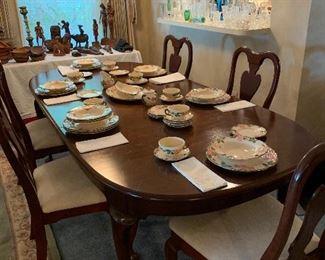 Mahogany dining room table