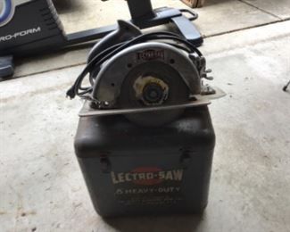 Vintage Electro Circular  Saw with metal case.