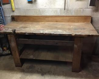 Another workbench in the basement workshop