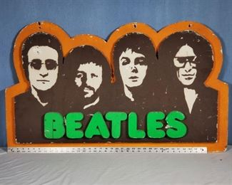Advertising Beatles Sign