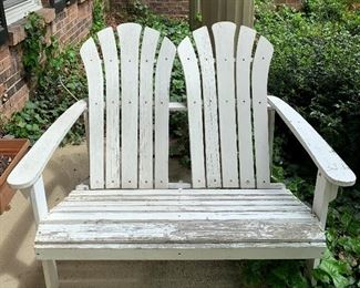 Pair of Adirondack Style Painted Benches