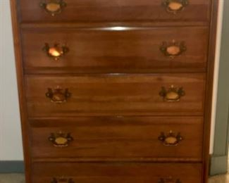 $200 - 35x18.5x48, Beautiful Cherry Dresser with Brass Hardware