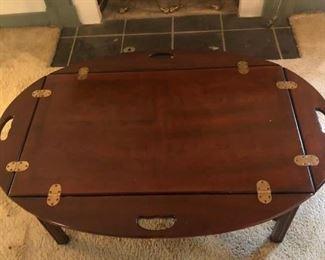 $150 - Folding Coffee Table; 45.5x31x17