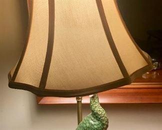 $130 - Pair of Unique Peacock Lamps