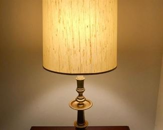 """$60 - Pair of Brass Lamps; 35"""" H"""
