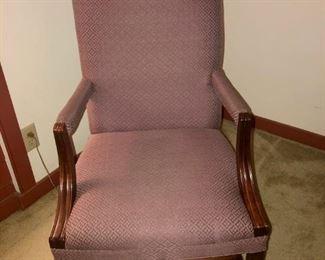 $75 - Plum Fabric Armchair