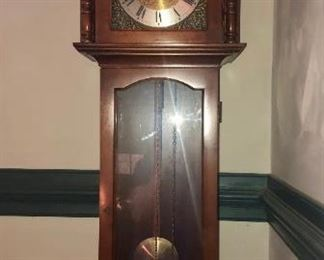 "$250 - Tempest Fugit Grandmother Clock; 6'5"" Tall"