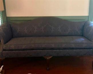 "$125 - Blue Fabric Sofa; 75""L"