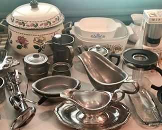 Pewter and Other Kitchen Items