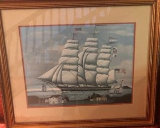 $40 - Unknown Artist, Tall Ship