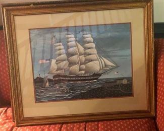 $40 - Tall Ship, Unknown Artist